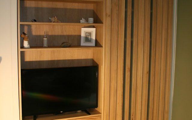 Bureau chêne massif et aluminium brossé wenga bois